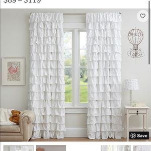 Pottery Barn Allover Ruffle Blackout Curtains